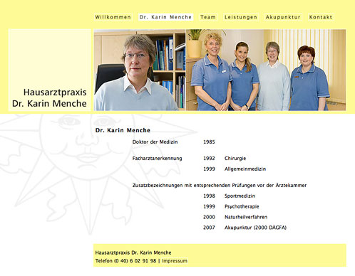 Hausarztpraxis Dr. Karin Menche Website 2